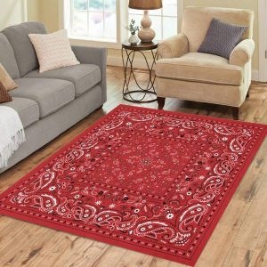 Red Bandana Area Rug