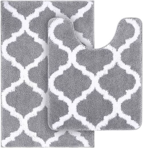 Gray Bath Rug Set